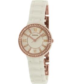 Fossil Women's Virginia CE1082 White Ceramic Quartz Watch