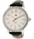 Tommy Hilfiger Men's 1781218 Silver Leather Analog Quartz Watch - Main Image Swatch