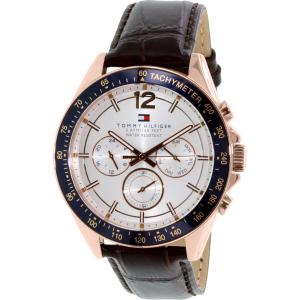 Tommy Hilfiger Men's 1791118 Rose Gold Leather Analog Quartz Watch