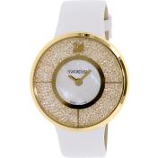Swarovski Women's Crystalline 1184025 Gold Leather Swiss Quartz Watch