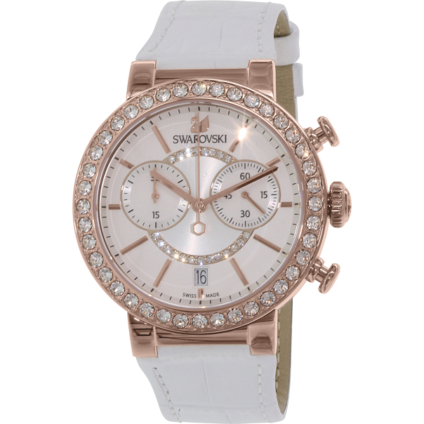 swarovski s citra 5080602 white leather swiss quartz