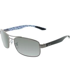 Ray-Ban Men's Polarized  RB8316-029/N8-62 Gunmetal Rectangle Sunglasses