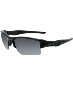Oakley Men's Mirrored Flak Jacket 24-434 Black Semi-Rimless Sunglasses