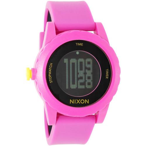 Nixon Women's Genie A326644 Pink Silicone Quartz Watch