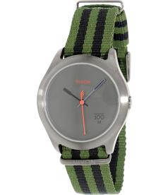 Nixon Men's Quad A3441151 Gunmetal Nylon Quartz Watch