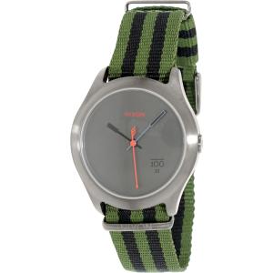 Nixon Men's Quad A3441151 Green Nylon Quartz Watch