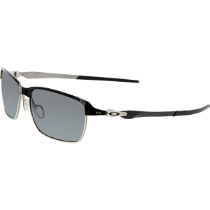 Oakley Men's Polarized Tinfoil OO4083-06 Black Rectangle Sunglasses