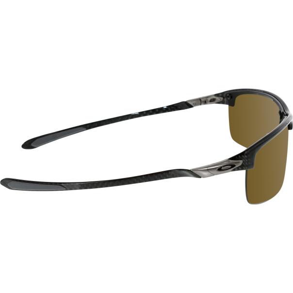 Rimless Glasses Oakley : Oakley Mens Polarized Carbon Blade OO9174-04 Grey Semi ...