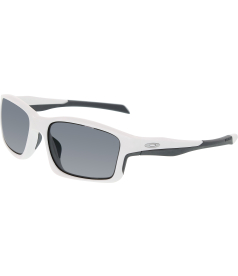 Oakley Men's Polarized Chain Link OO9247-07 White Rectangle Sunglasses