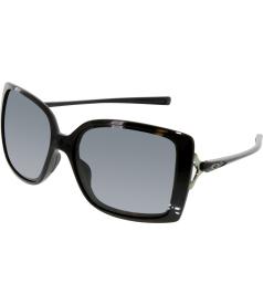 Oakley Women's Polarized Splash OO9258-02 Black Square Sunglasses