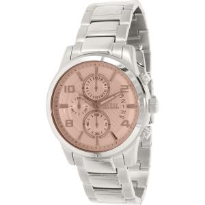 Guess Men's U0075G4 Silver Stainless-Steel Quartz Watch