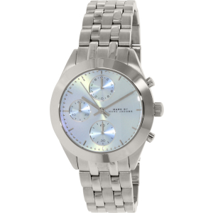 Marc by Marc Jacobs Women's Peeker Chrono MBM3371 Silver Stainless-Steel Quartz Watch