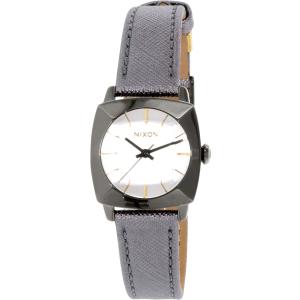 Nixon Women's Luca A401131 Gunmetal Leather Quartz Watch