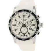 Swiss Eagle Men's SE-9057-02 White Rubber Swiss Quartz Watch