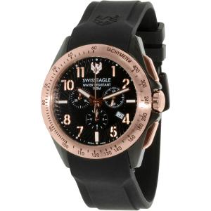 Swiss Eagle Men's SE-9061-05 Black Rubber Swiss Quartz Watch