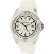 Swiss Eagle Men's SE-9066-01 White Rubber Swiss Quartz Watch