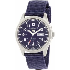 Seiko Men's 5 Automatic SNZG11K Navy Nylon Automatic Watch