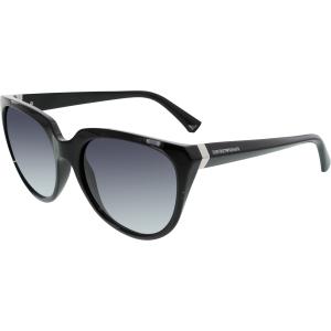 Emporio Armani Women's Gradient  EA4027-50178G-57 Black Oval Sunglasses