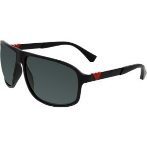 Emporio Armani Men's  EA4029-532687-64 Black Square Sunglasses