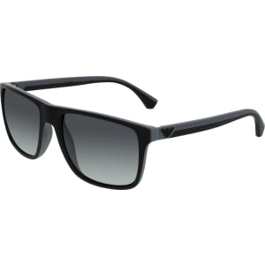 Emporio Armani Men's Gradient  EA4033-5229T3-56 Black Rectangle Sunglasses