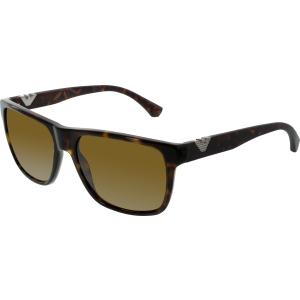 Emporio Armani Men's  EA4035-502683-58 Tortoiseshell Square Sunglasses