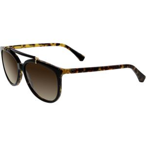 Emporio Armani Women's Gradient  EA4039-526413-56 Black Round Sunglasses
