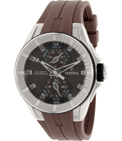 Festina Men's F16611/2 Brown Silicone Quartz Watch
