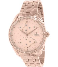 Festina Women's F16742/2 Rose Gold Stainless-Steel Quartz Watch
