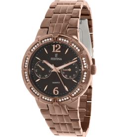 Festina Women's F16796/2 Bronze Stainless-Steel Quartz Watch