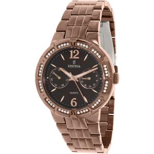 Festina Women's Classic F16796/2 Bronze Stainless-Steel Quartz Watch