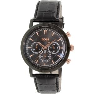 Hugo Boss Men's 1513064 Black Leather Quartz Watch