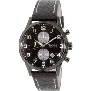 Hugo Boss Men's 1513066 Black Leather Quartz Watch