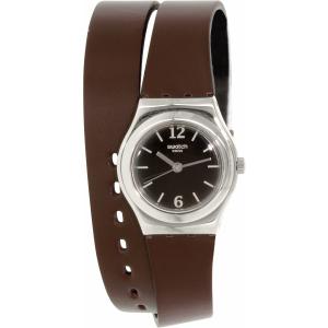 Swatch Women's Irony YSS284 Brown Leather Swiss Quartz Watch