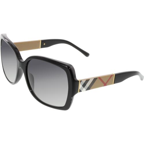 e897db37967 ... EAN 8053672163469 product image for Burberry Women s Gradient  BE4160-34338G-58 Black Square Sunglasses