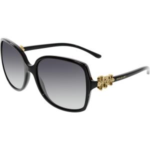 Bvlgari Women's Gradient  BV8120B-501/8G-57 Black Butterfly Sunglasses