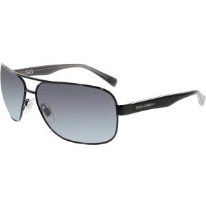 Dolce & Gabbana Men's Gradient  DG2120P-1169T3-64 Black Aviator Sunglasses