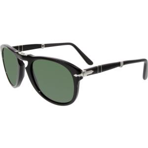 Persol Women's Polarized  PO0714-95/58-52 Black Oval Sunglasses