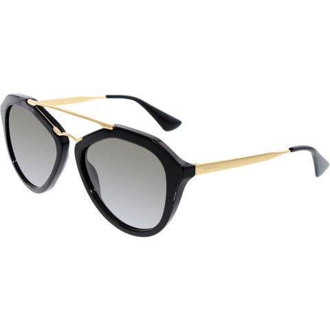 Prada Women's Gradient PR12QS-1AB0A7-54 Black Butterfly Sunglasses