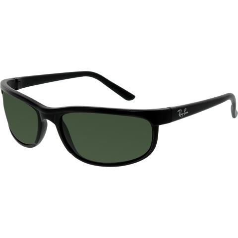Ray-Ban Men's Anti-reflective Predator 2 RB2027-W1847-62 Black Rectangle Sunglasses