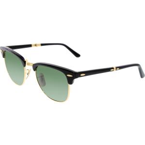 Ray-Ban Men's Folding Clubmaster RB2176-901-51 Black Square Sunglasses