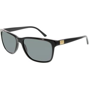 Versace Men's  VE4249-GB1/87-58 Black Rectangle Sunglasses
