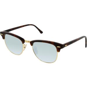 Ray-Ban Women's Mirrored Clubmaster RB3016-1145/30-51 Tortoiseshell Square Sunglasses