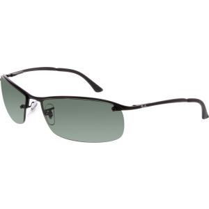 Ray-Ban Men's Active RB3183-006/71-63 Black Semi-Rimless Sunglasses