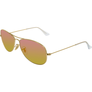 Ray-Ban Women's Mirrored Cockpit RB3362-112/4T-59 Metal Oval Sunglasses