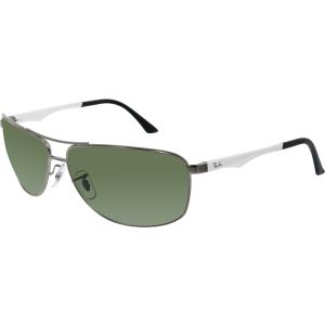 Ray-Ban Men's Polarized Active RB3506-029/9A-64 Silver Aviator Sunglasses