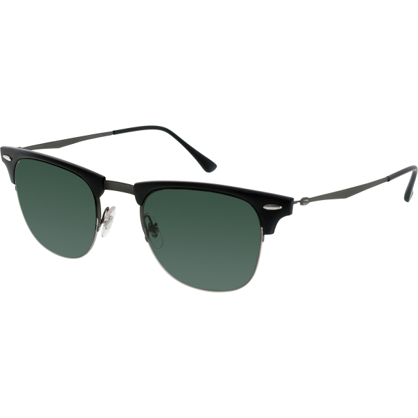 Rimless Clubmaster Glasses : Ray-Ban Mens Clubmaster RB8056-154/71-49 Black Semi ...