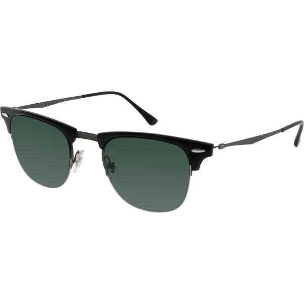 Rimless Clubmaster Glasses : Ray-Ban Mens Clubmaster RB8056-154/71-49 Black Semi ...