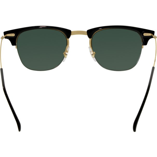 Rimless Clubmaster Glasses : Ray-Ban Mens Clubmaster RB8056-157/71-49 Gold Semi ...