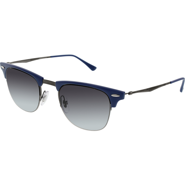 Ray-Ban Mens Clubmaster RB8056-165/8G-49 Blue Semi ...