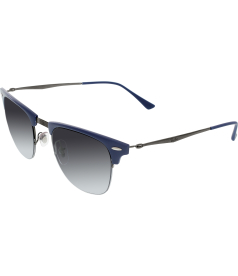 Ray-Ban Men's Gradient Clubmaster RB8056-165/8G-51 Blue Round Sunglasses